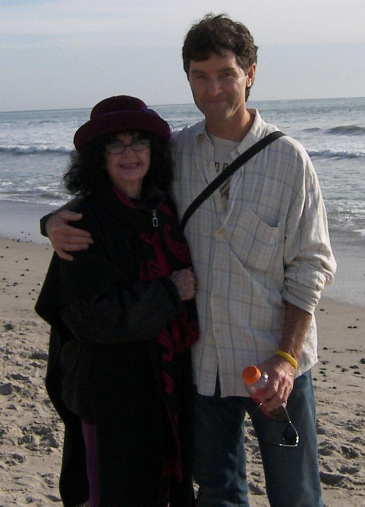 Paul Thomas with his mother, who died of an abdominal aortic aneurysm